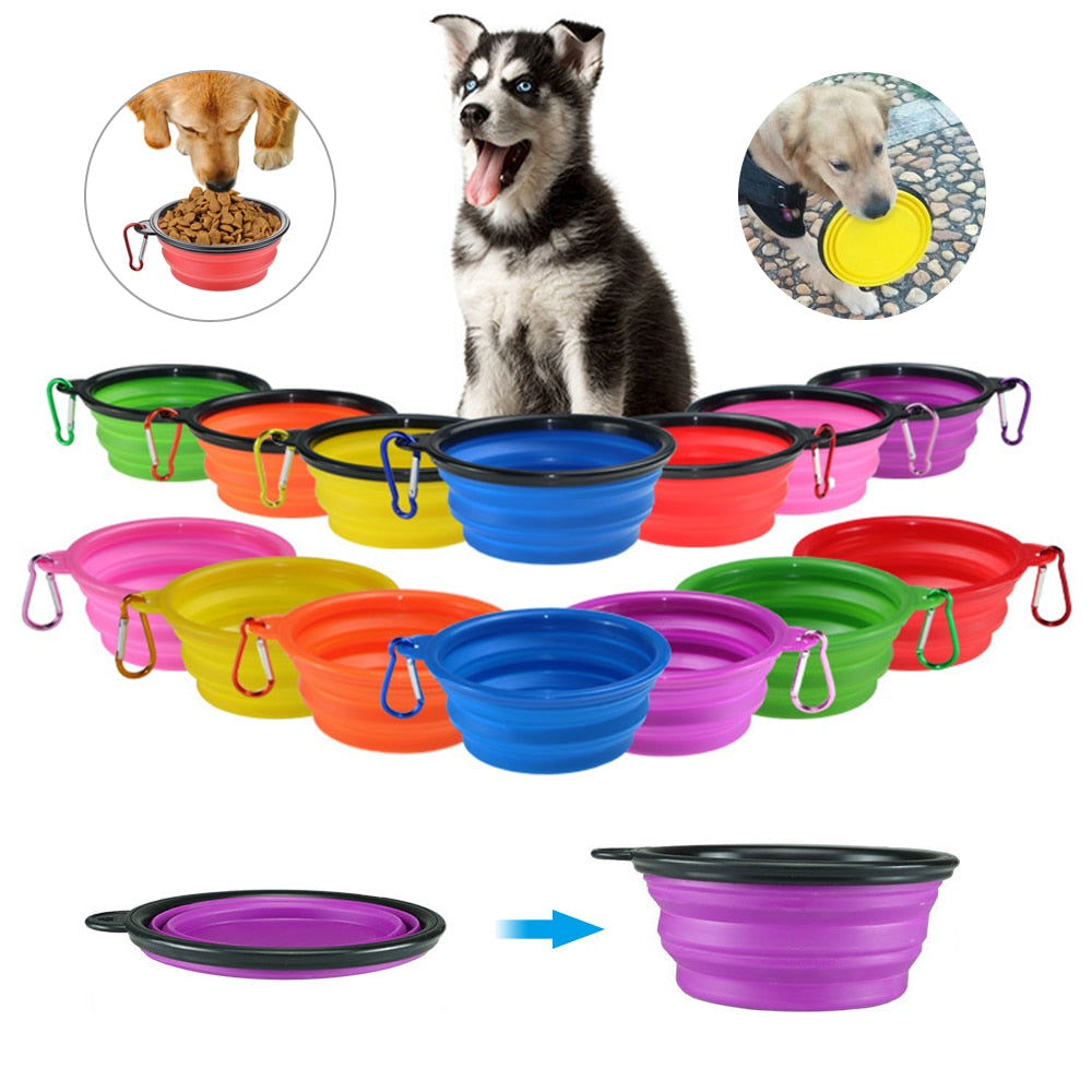Dog Travel Silicone Bowl
