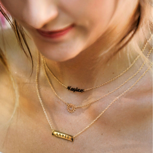 Lumiela Name Necklace (A-M)