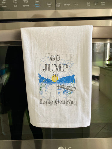 Lake Geneva Jump In The Lake Towel