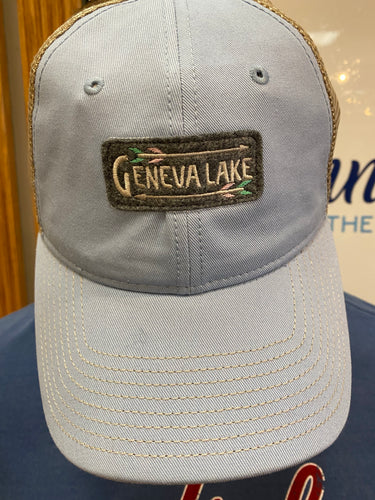 Geneva Lake Embroidered Patch Trucker Cap