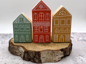 NEW..Set Of Hand Made House Collection..AUTUMN