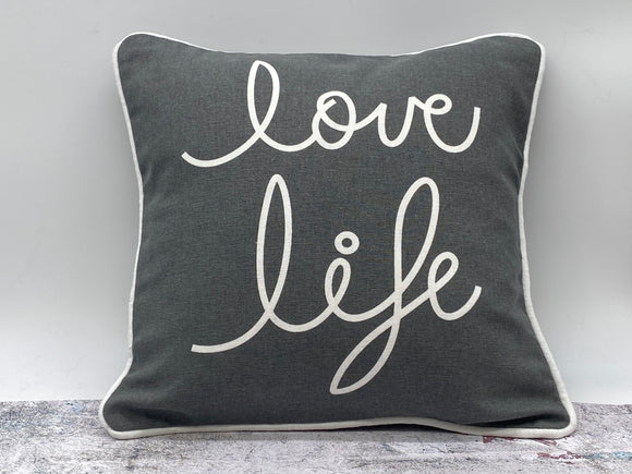 Grey Love / Life Cushion