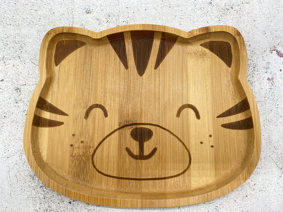 Cat Bamboo Plate