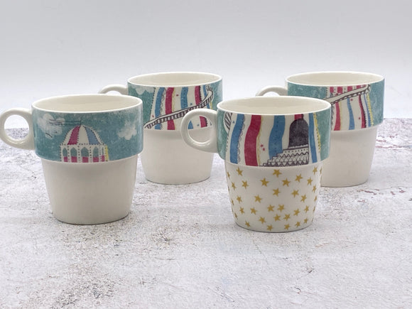 Helter Skelter Stacking Mugs