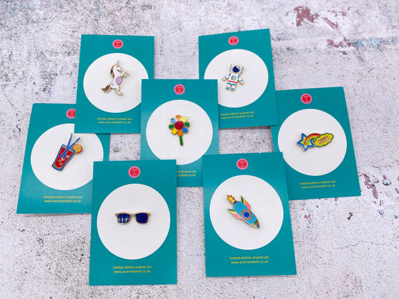 Retro Enamel Pin Badges