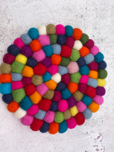 Felt Coloured Table Mats / Trivets