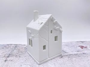 Porcelain Birds House Tealight Holder