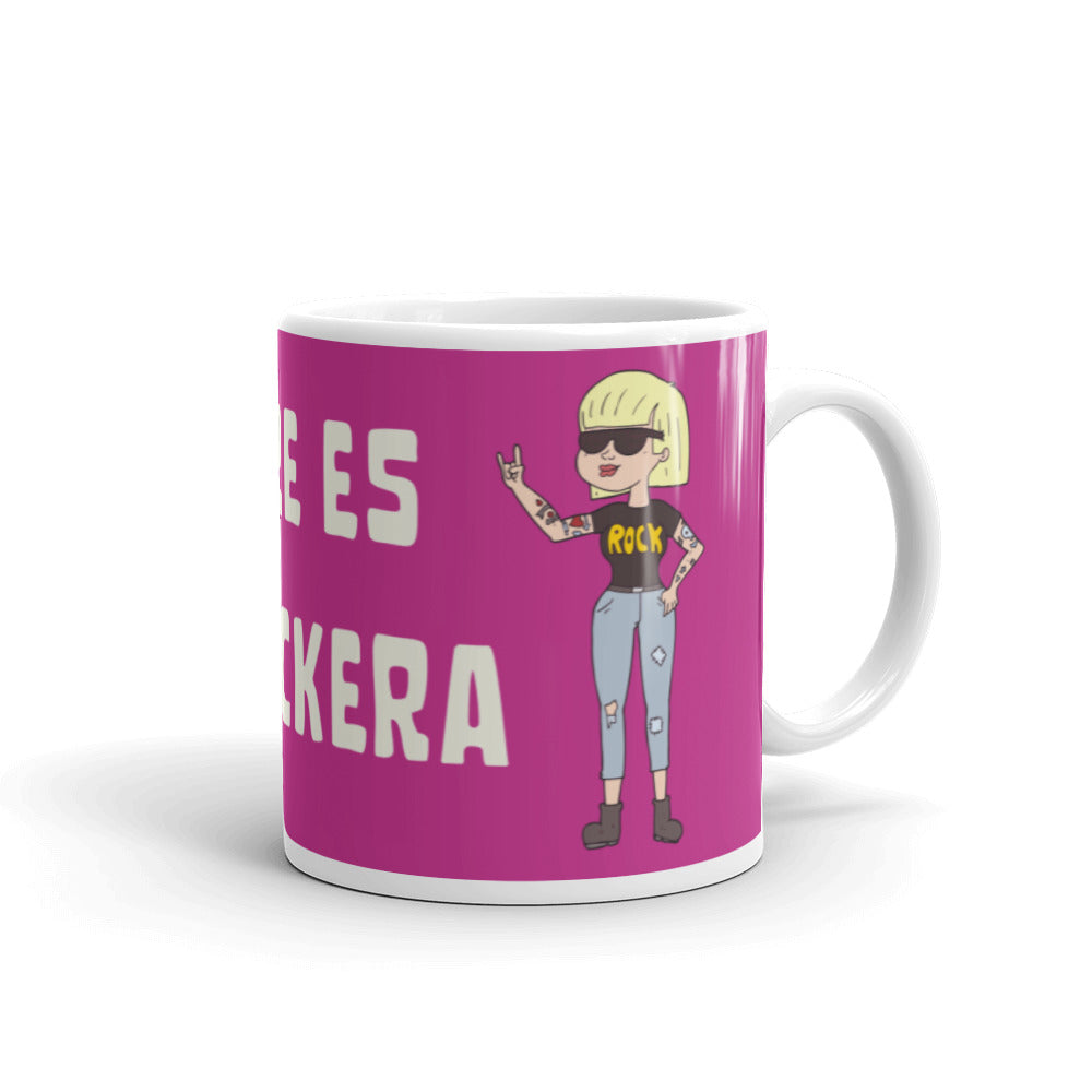 Taza modelo Mi madre es la + rockera - Rock Quotes