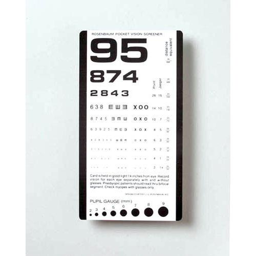 Pocket Eye Test Chart
