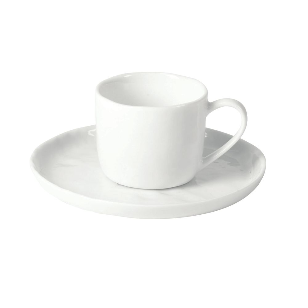 PORCELINO WHITE - CUP & SAUCER