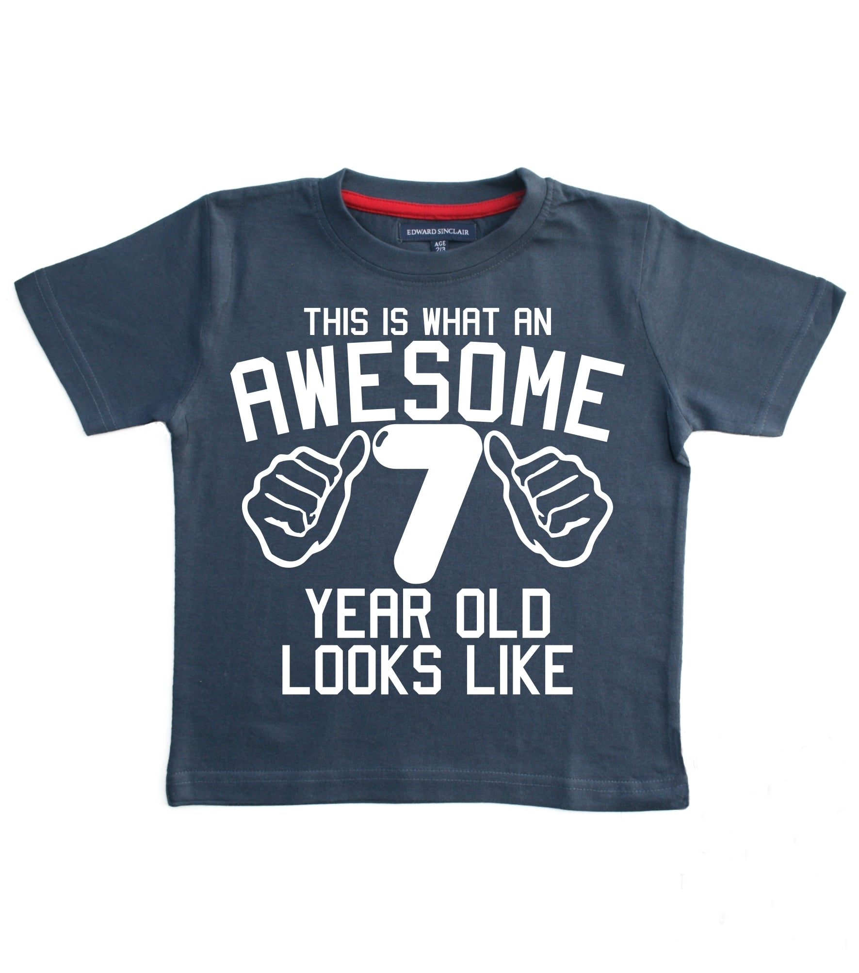 This What an Awesome 7 Year Old Looks Like Children's T-shirt