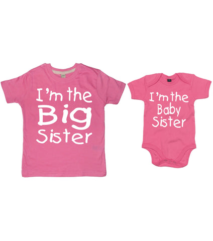 I'm the Big Sister T-shirt and I'm the Baby Sister Bodysuit Set