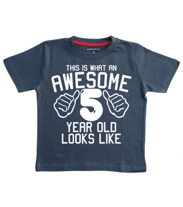 This What an Awesome 5 Year Old Looks Like Children's T-shirt