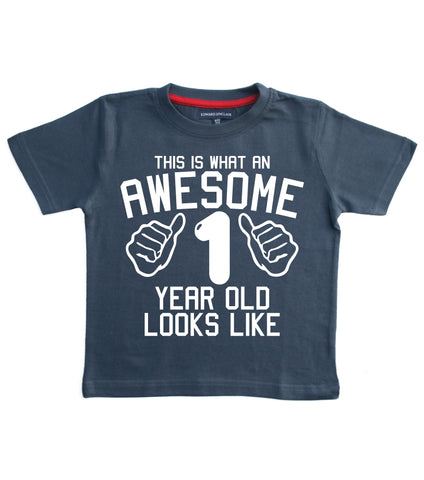 This is what awesome 1 year old looks like Children's T-shirt