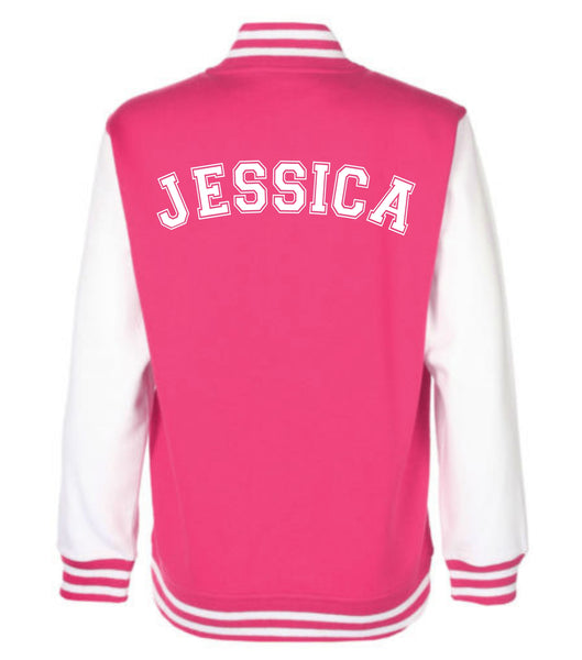 Personalised Children's Varsity Jacket With Initial and Name