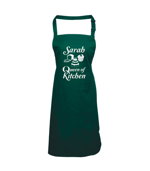 Personalised Queen of Kitchen Apron