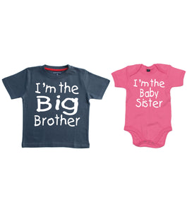 I'm the Big Brother T-shirt and I'm the Baby Sister Bodysuit Set