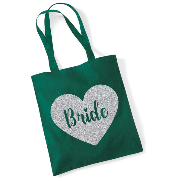 Bride Tote Bag in Sparkling Print