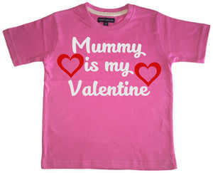 Mummy is my Valentine Children's T-shirt