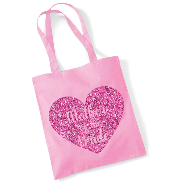 Mother of The Bride Tote Bag with Sparking Print
