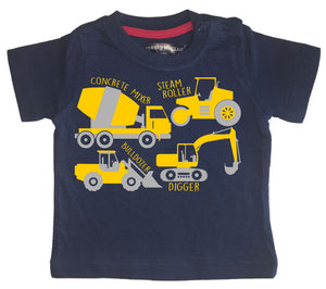 Construction Collage Children's T-shirt (Digger, bulldozer & more)