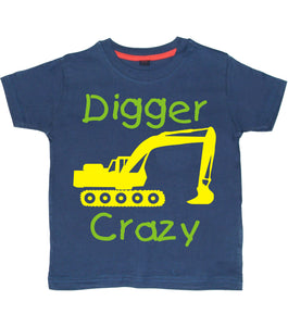 Digger Crazy Children's T-shirt