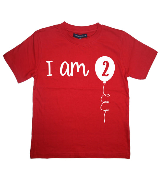 I Am Two Boy's 2nd Birthday T-Shirt
