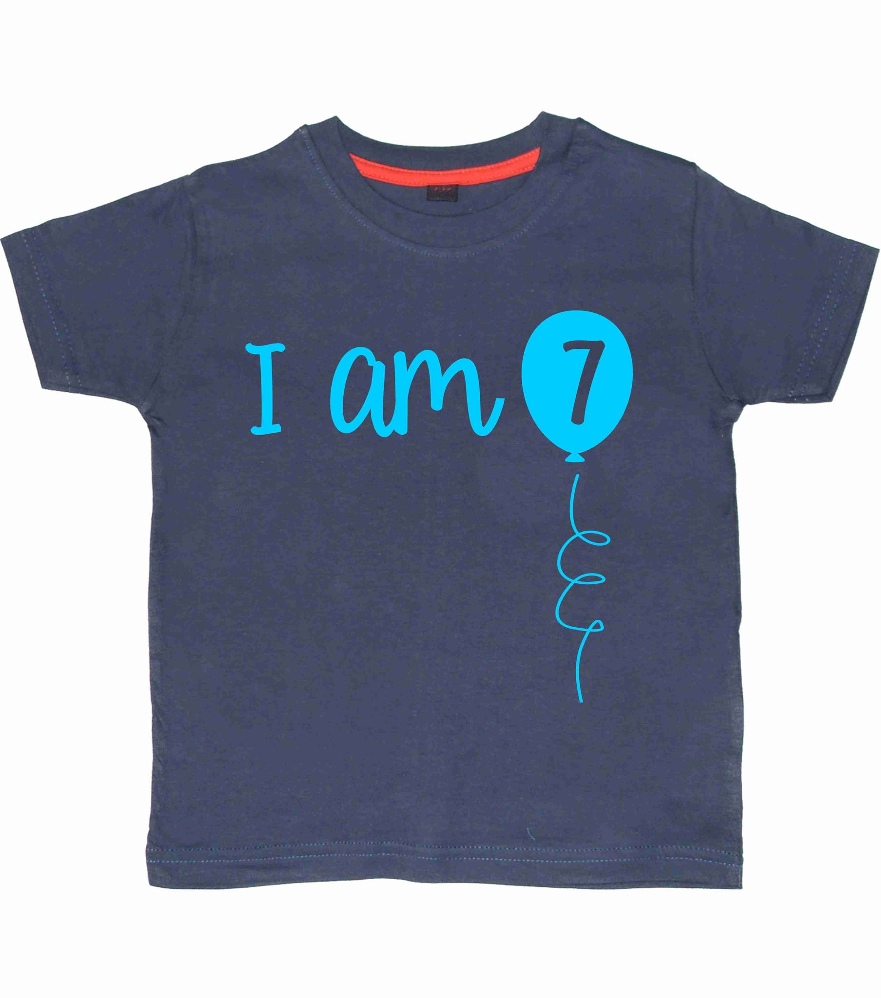 I Am 7 Children's Birthday T-Shirt