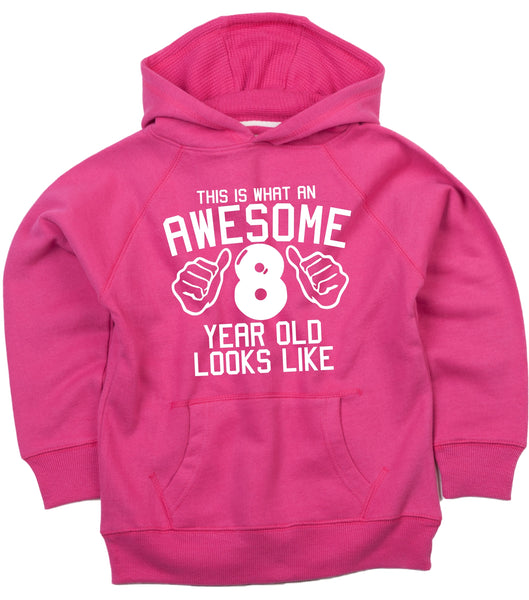 Personalised This is what an awesome 8 year old looks likeHoodie