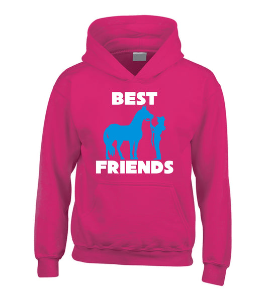 Personalised Best Friends Horsey Hoodie with 2 Names on Back