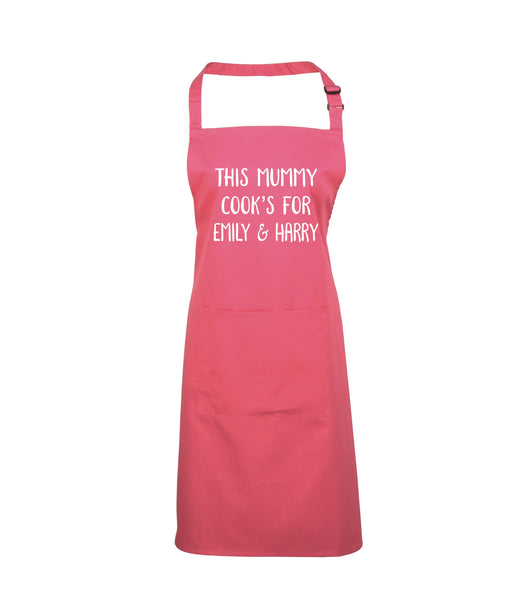 Personalised This Mummy Cooks for... Apron