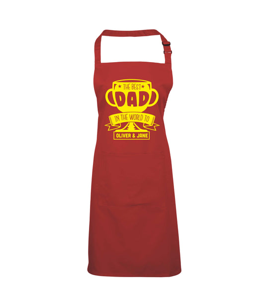Personalised Best Dad in the World to... Apron