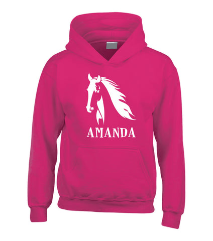 Personalised Horse Head & Name Hoodie
