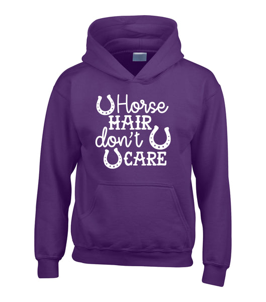 Horse Hair Don't Care Hoodie