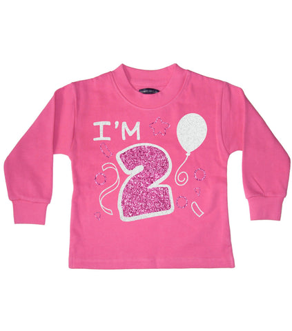 I'm 2 Bubblegum Pink Children's Birthday Sweatshirt