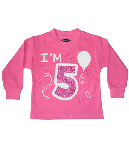 I'm 5 Bubblegum Pink Children's Birthday Sweatshirt