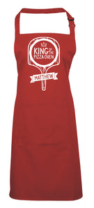 King of The Pizza Oven (Personalised) - Cooking Apron, BBQ Apron, Pizza apron, Birthday Gift!