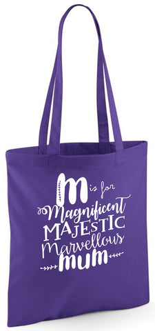 M Is For Mum Tote Bag