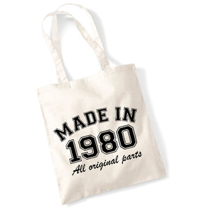 Personalised Year 'Made in (insert year)' Tote Bag