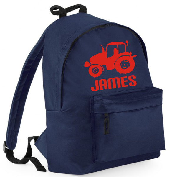Personalised Tractor Backpack