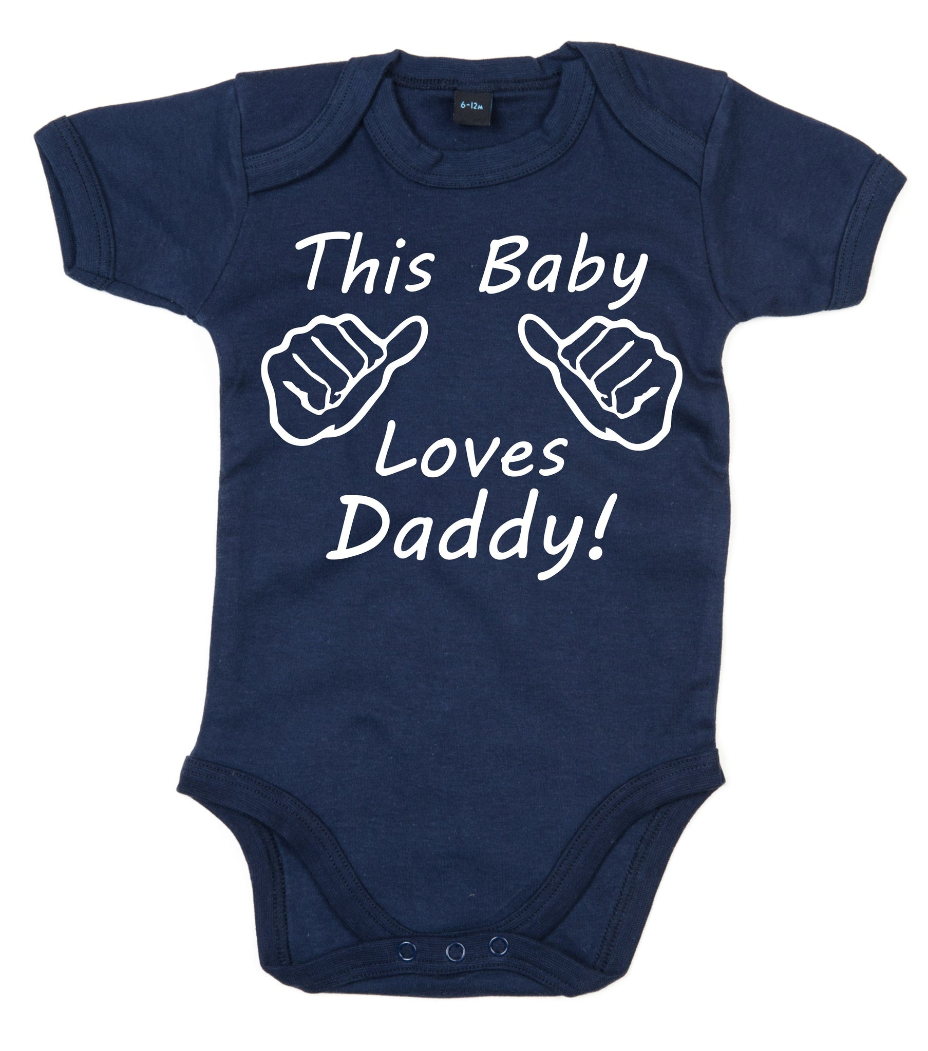 This Baby Loves Daddy Baby Bodysuit