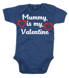 Mummy Is my Valentine Baby Bodysuit