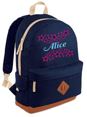 Personalised Name with Stars Heritage Backpack