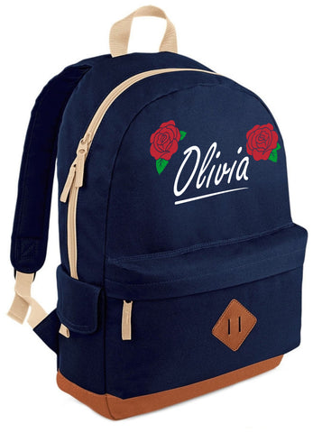 Personalised English Rose Heritage Backpack