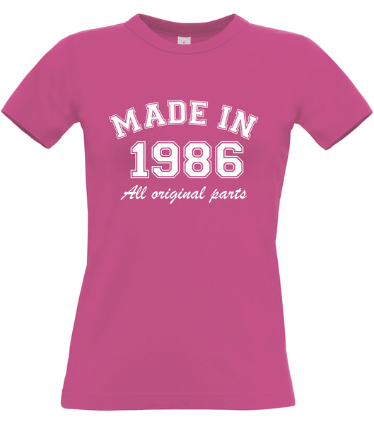 Personalised Year Made in Women's Fitted T Shirt