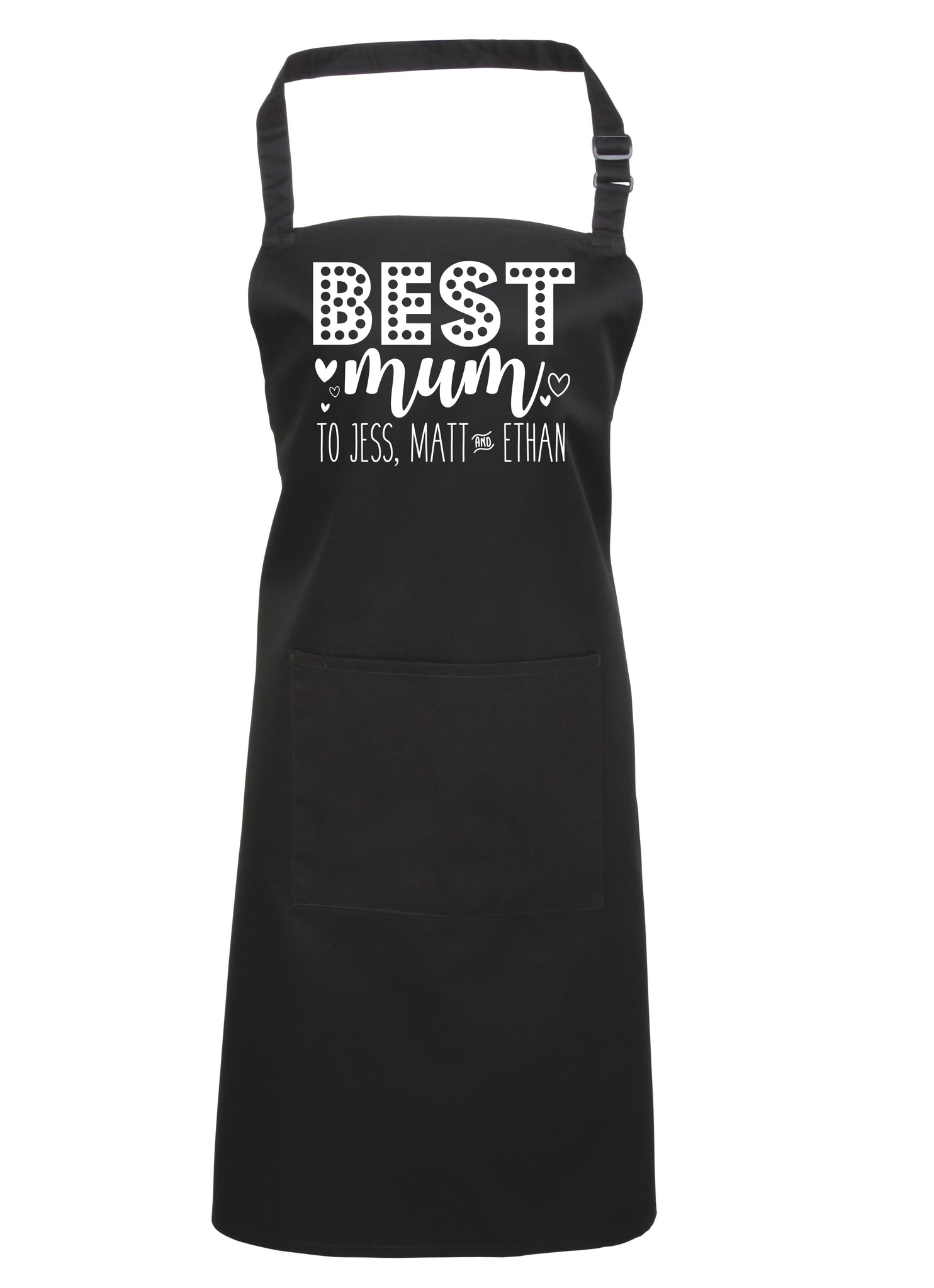 Personalised 'Best Mum to...' Apron
