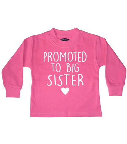 Promoted to Big Sister Bubblegum Pink Sweatshirt