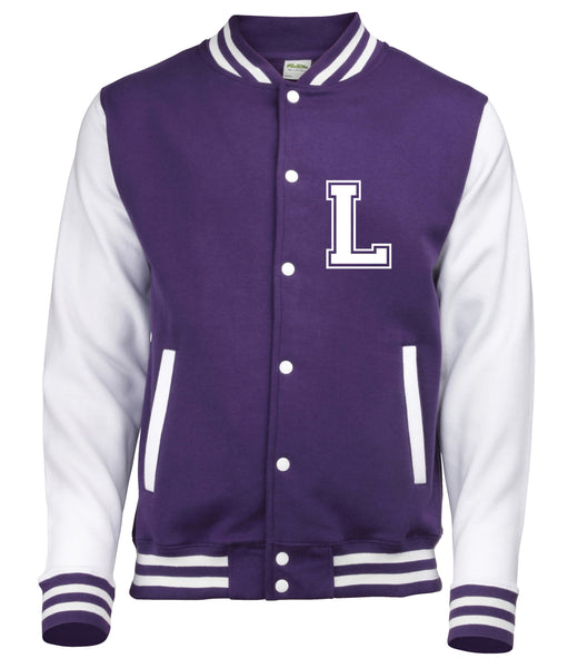 Personalised Adult Varsity Jacket With Initial and Name