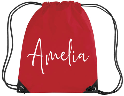 Personalised Signature Drawstring Bag