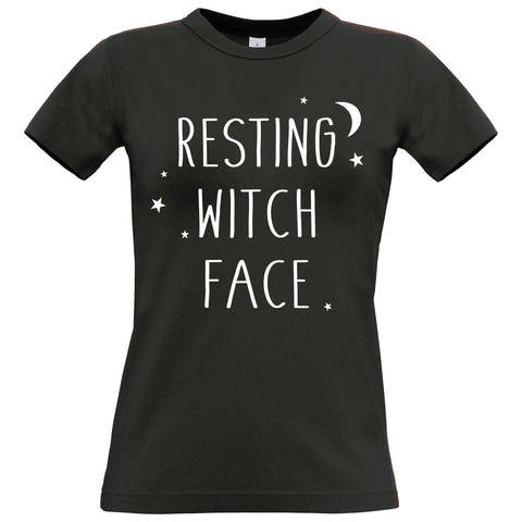 Resting Witch Face Women's Fitted T Shirt